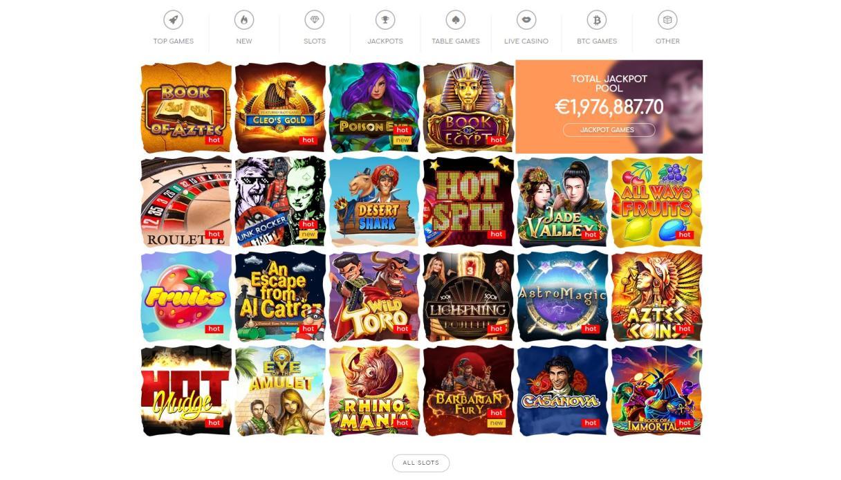 Giochi disponibili su loki casino