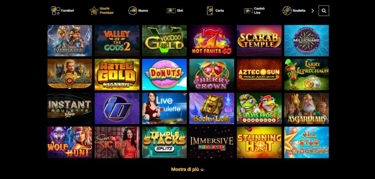 Giochi disponibili su Zet casino