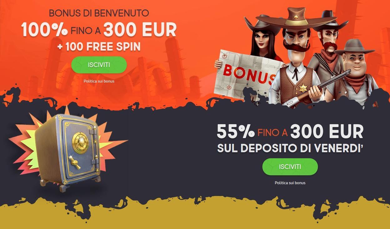 GunsBet Casino bonus