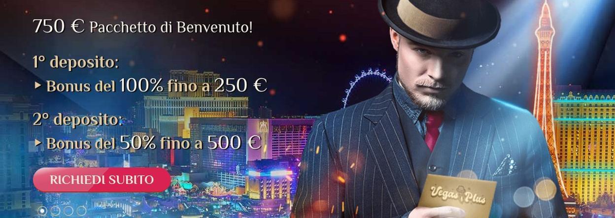 Vegas Plus Casino bonus di benvenuto