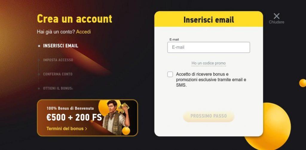 Come aprire un account su Fezbet