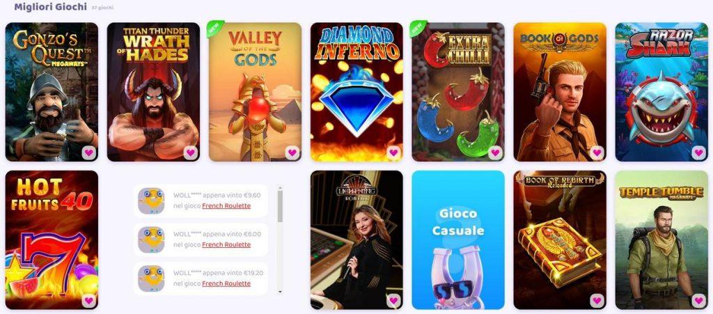 Giochi disponibili su 7signs