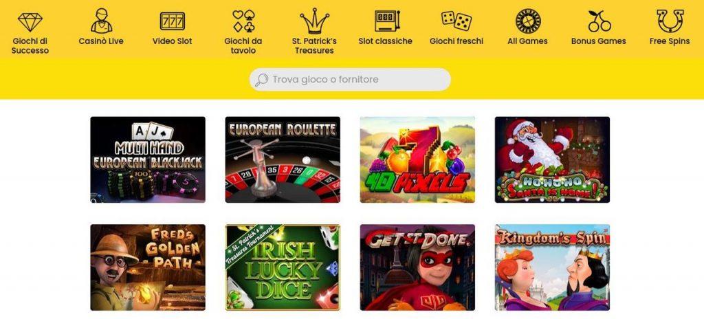 Giochi disponibili