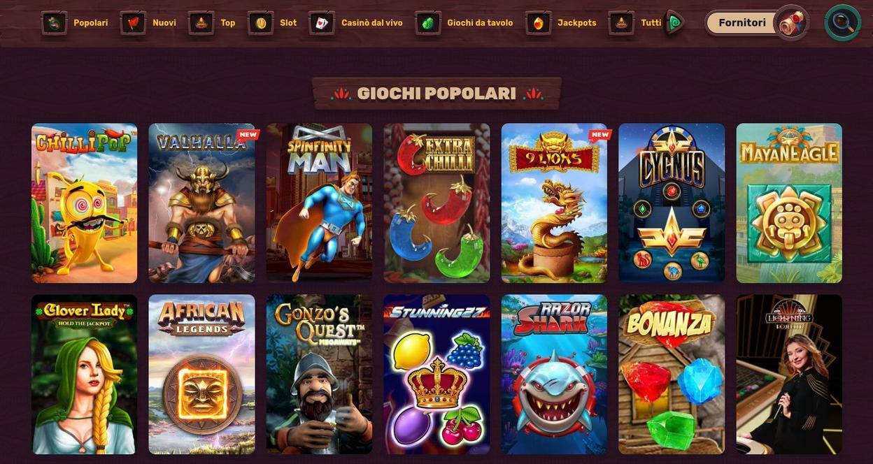 Giochi Disponibili Su 5 Gringos Casino