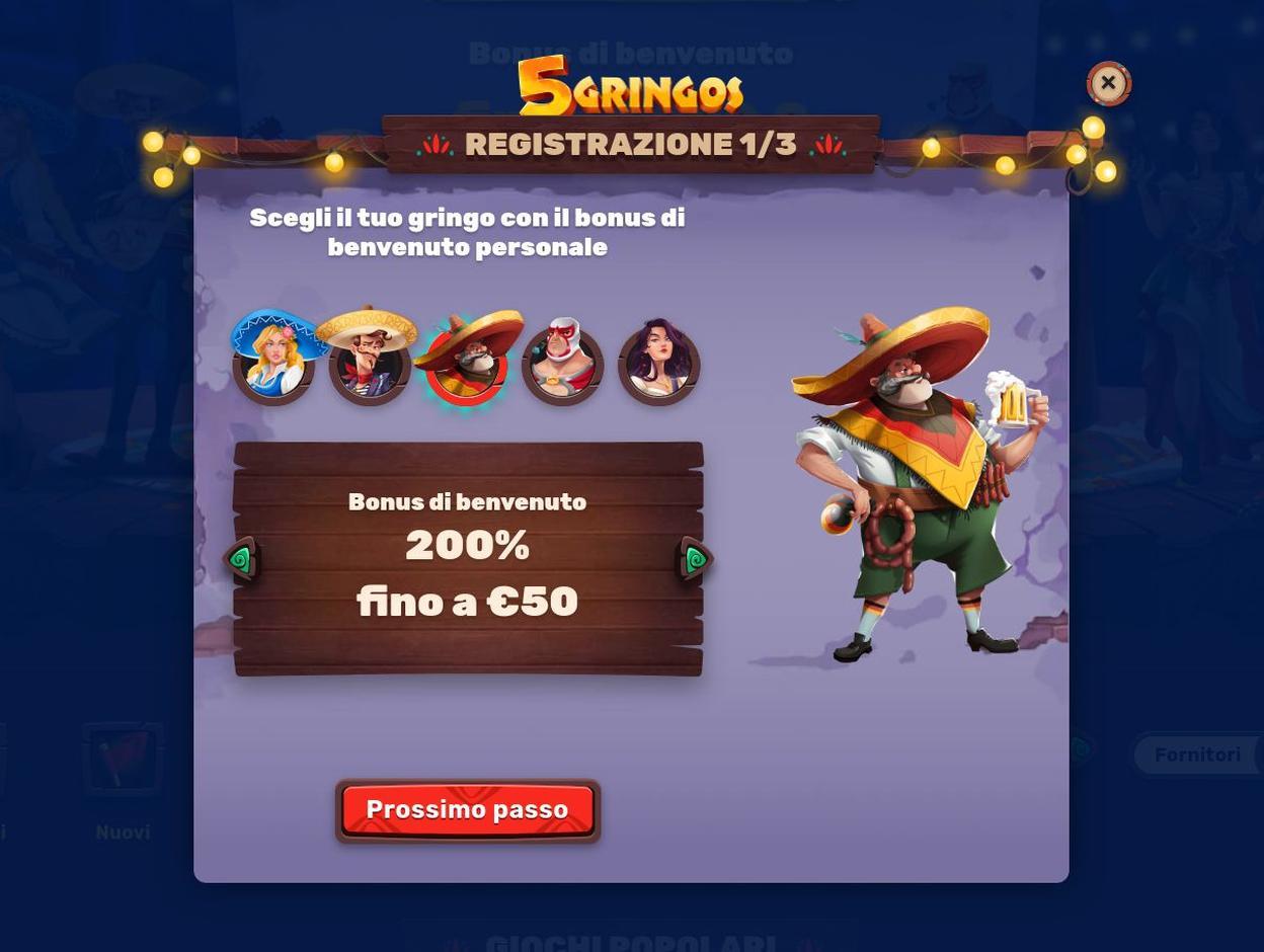 Come Aprire Un Account Su 5 Gringos Casino